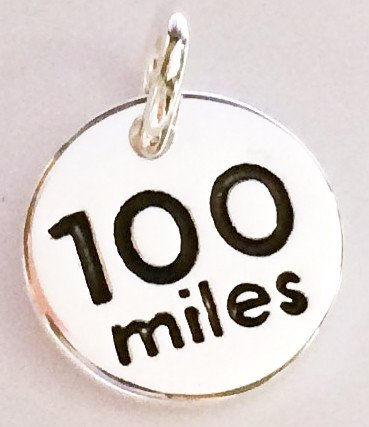 Silver Plated 100 miles disc charm