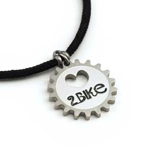 Love 2 Bike Pendant 2mm