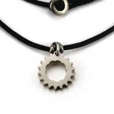 Bike Cog Charm Necklace