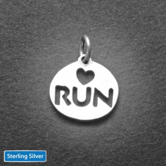 Love 2 Run Sterling Charm