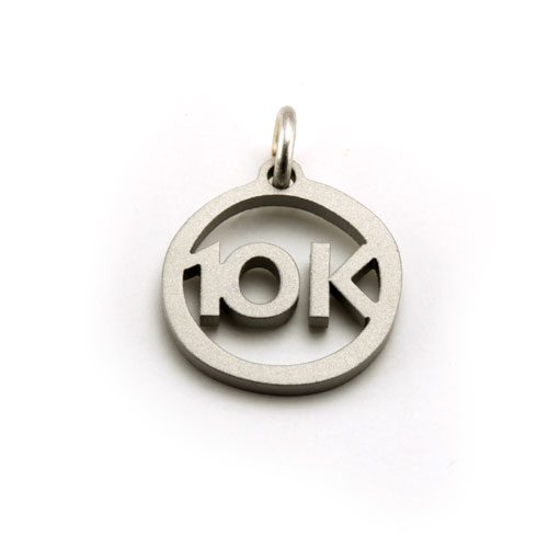 10K Stainless Steel Charm