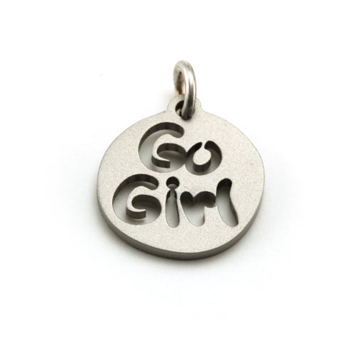 Go Girl Stainless Steel Charm