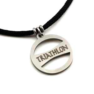Triathlon Pendant 2mm