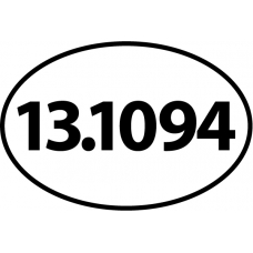 13.1 Complete Oval Decal