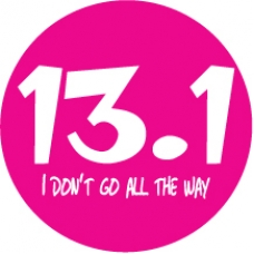 13.1 I don't go all the way car magnet Pink