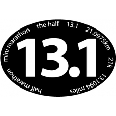 13.1 Mini Marathon Oval car magnet