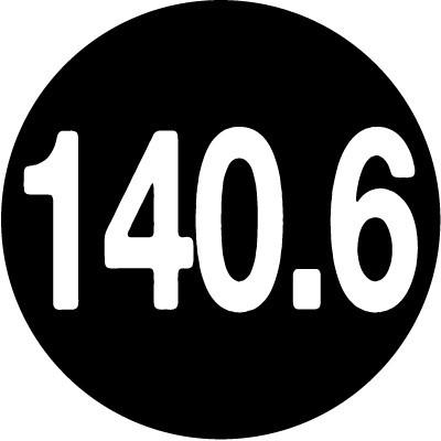 140.6 Round Color sticker (black)