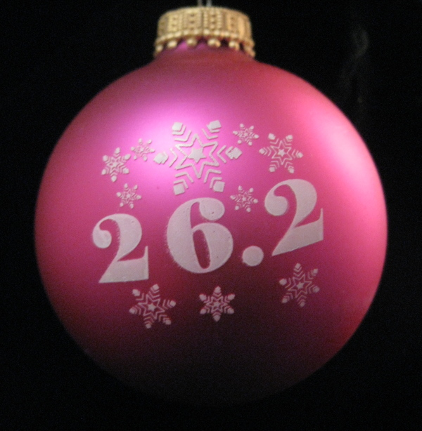 26.2 with Snowflakes ornament