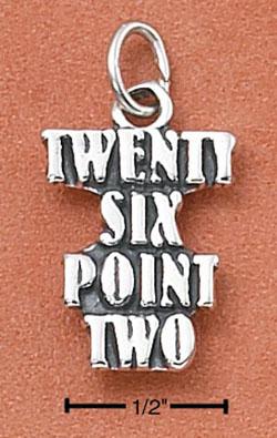 """TWENTY SIX POINT TWO"" MARATHON CHARM"