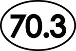 70.3 Oval Decal
