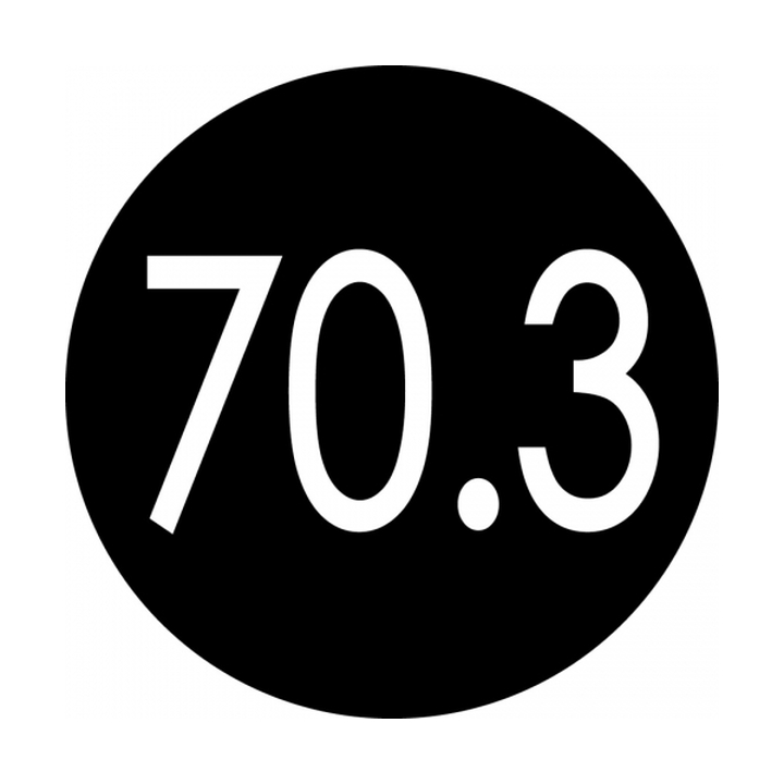 70.3 round color sticker (black)
