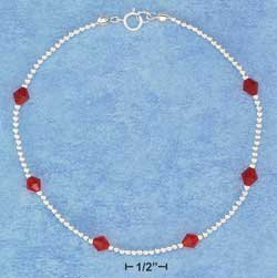 ANKLET WITH RED CRYSTALS