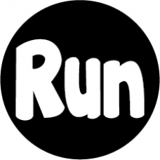 RUN Round car magnet