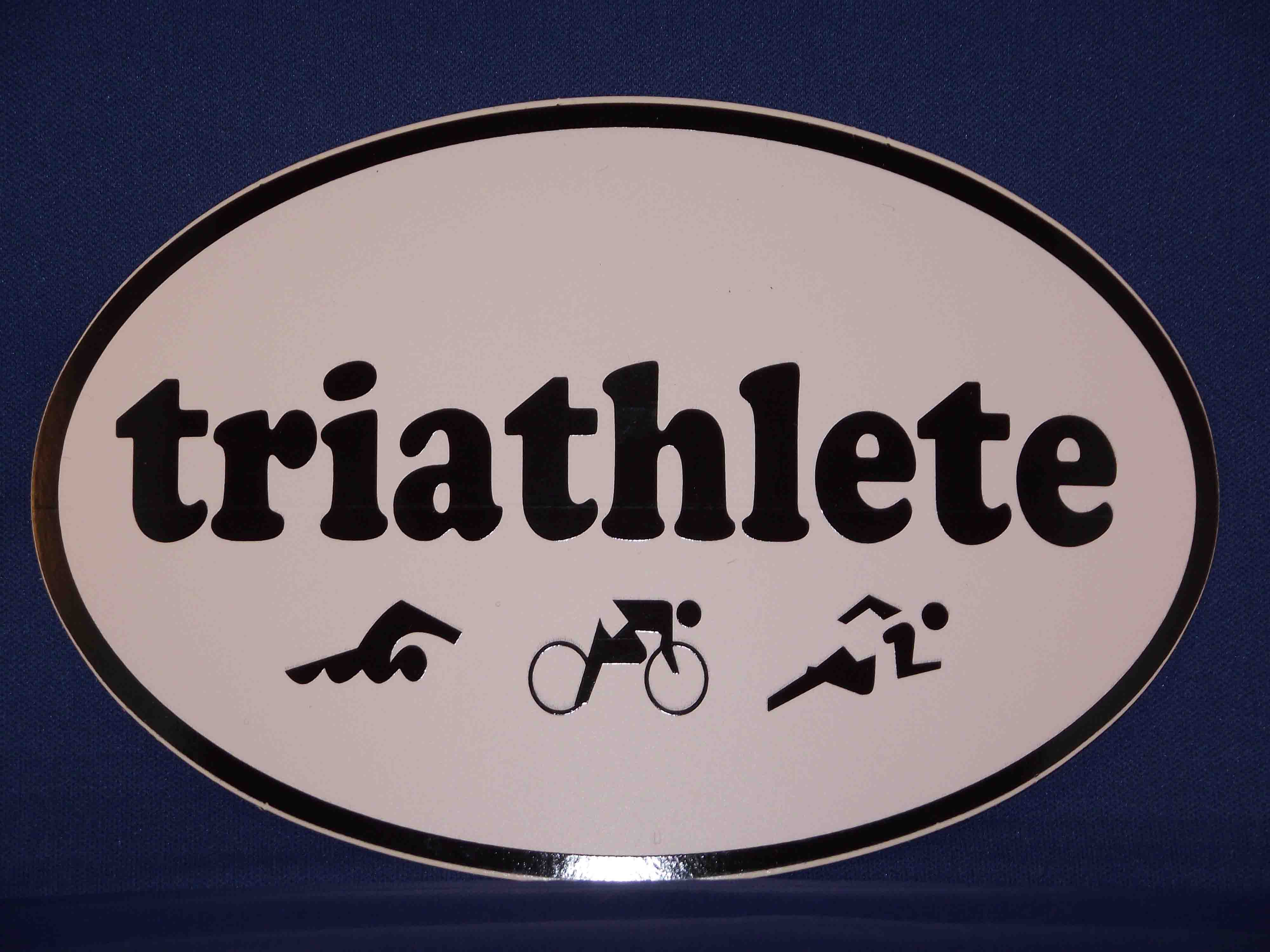 triathlete oval sticker/decal