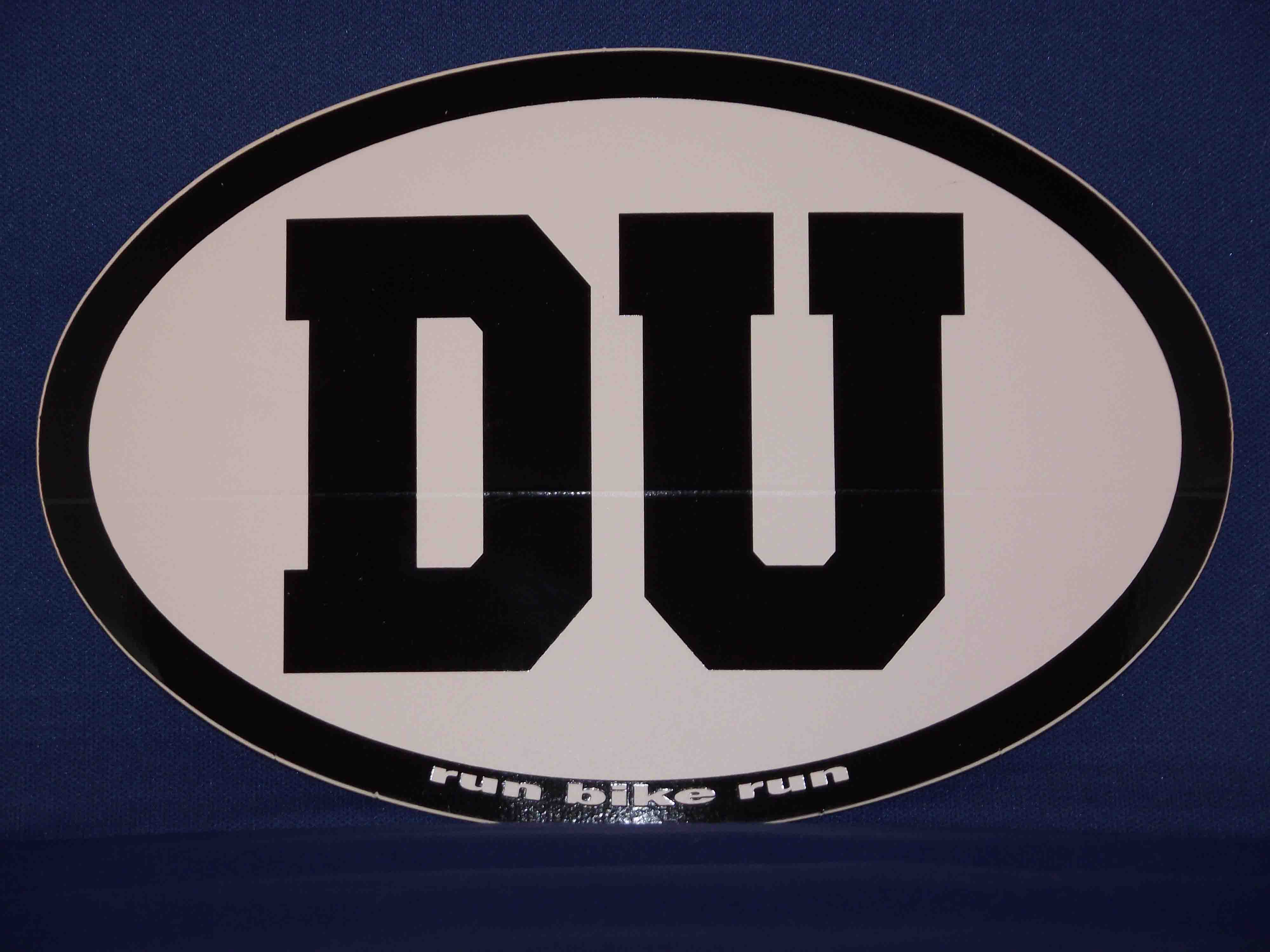 DU oval sticker decal
