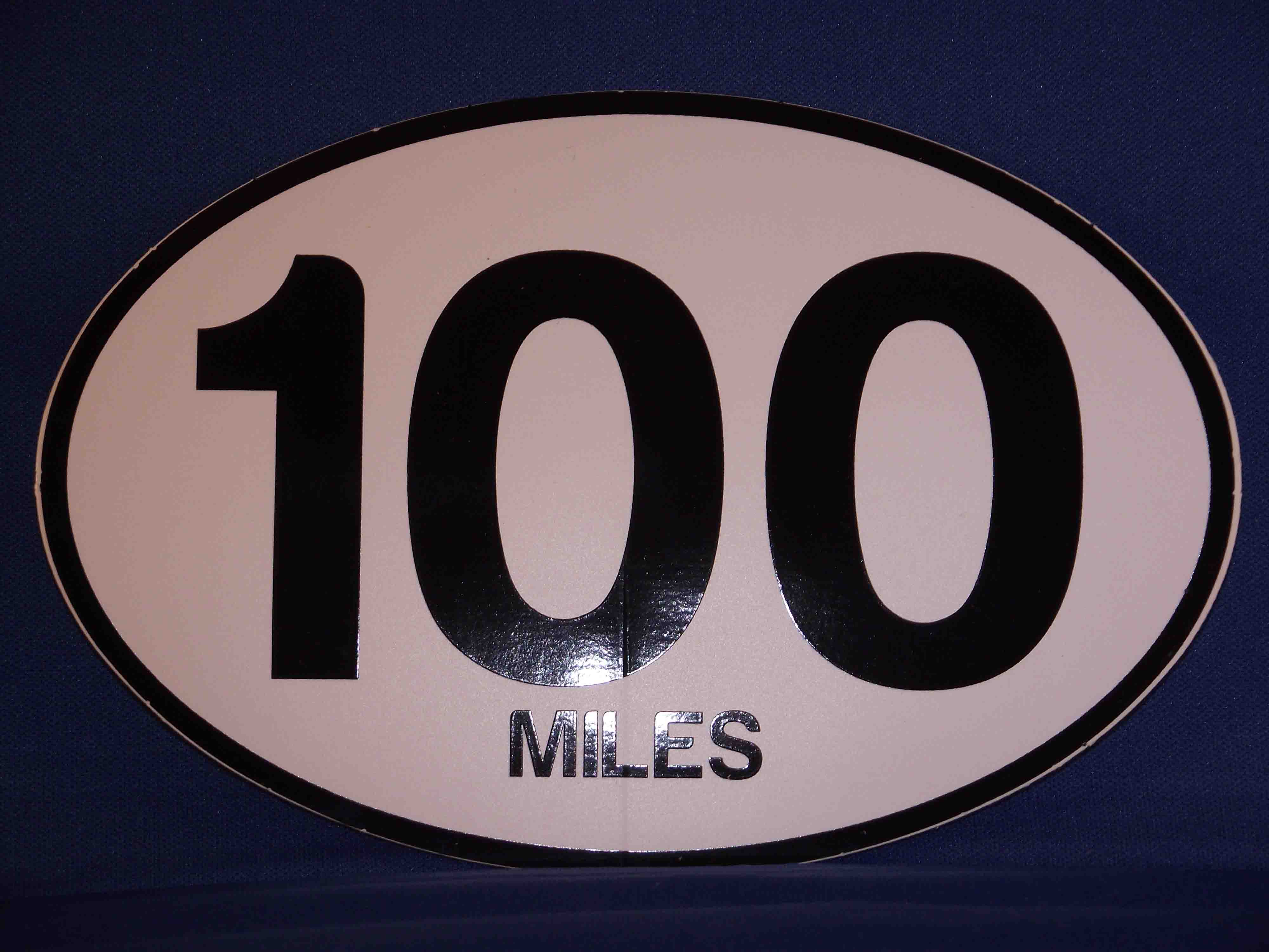 100 Mile Oval Decal