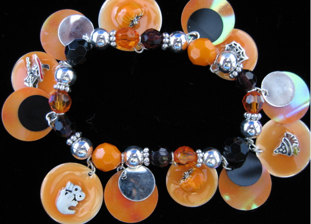Black and Orange Halloween Bracelet