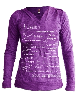 I Run... BURNOUT Long Sleeve Hoodie