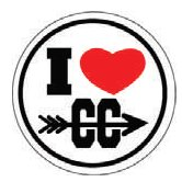 I ♥CC Round Sticker