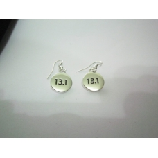 13.1 Silver Plated Disk Earrings