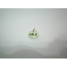 Silver Plated 26.2 Disc Charm