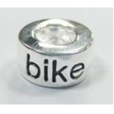 Bike Silver Plated Pandora Style Bead