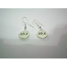 26.2 Silver Plated Disk Earrings