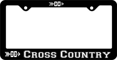 Cross Country License Plate Frame