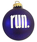 run. Christmas Ornament