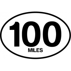 100 Mile oval Magnet