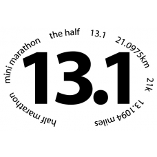 13.1 Mni Marathon Oval Decal - Click Image to Close