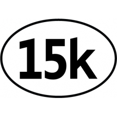 15K Oval Decal - Click Image to Close