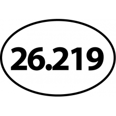 26.219 Oval Decal