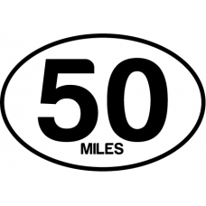 50 Miles oval Magnet