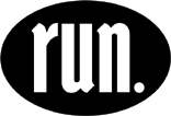 run. Oval Decal