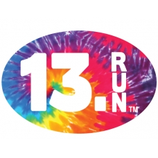 13.1 RUN Oval car magnet
