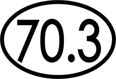 70.3 oval car magnet