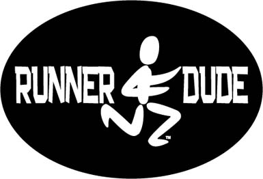 Runner Dude oval Car magnet - Click Image to Close