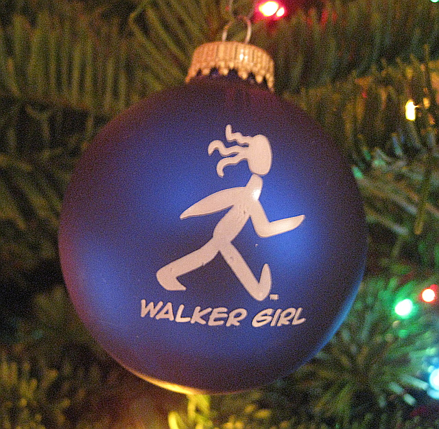 Walker Girl Christmas Ornament