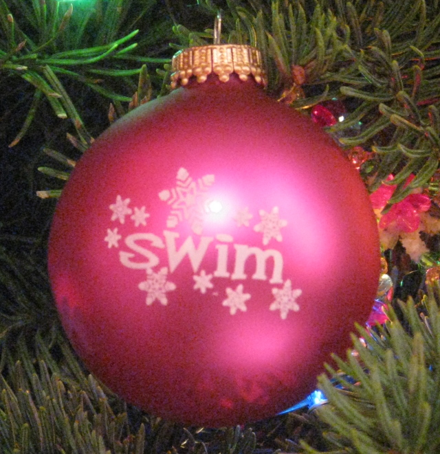 Snowflake Swim Christmas Ornament
