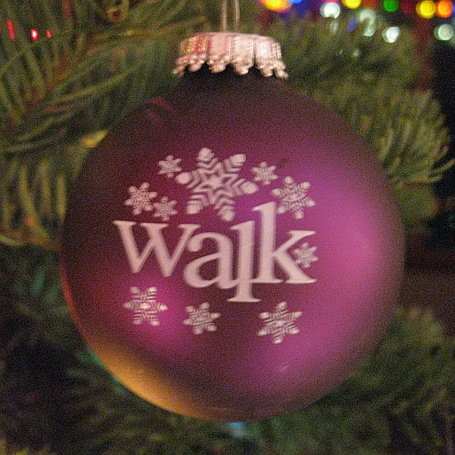 Walk with Snowflakes Christmas Ornament