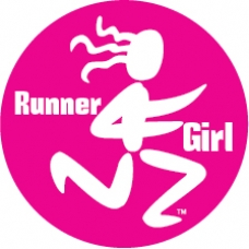 Runner Girl Round Car Magnet