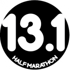 13.1 Half Marathon Round Car Magnet - Click Image to Close