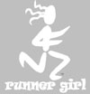 Runner Girl Static Cling Clear/White
