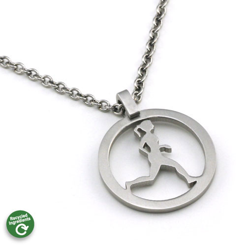 Running Gal Necklace - Click Image to Close