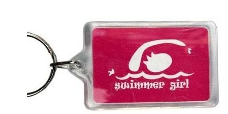 Swimmer Girl Key Ring (Pink)