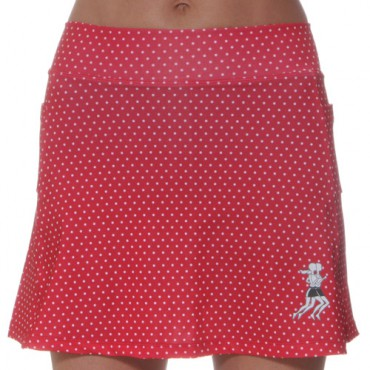 Mini Polka dot Athletic Running skirt w/Compression Shorts