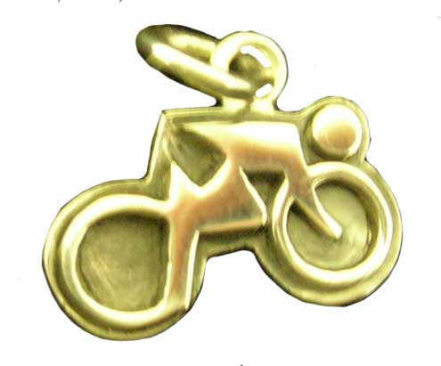 Bicycle and Rider Charm