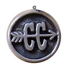 Cross Country Oxidized Round Charm
