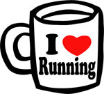 I ♥ Running Ceramic Coffee Mug